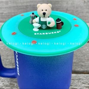 💚NEW💚Starbucks Bearista Bear Green Mug Cover